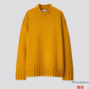 MEN LOW GAUGE CREW NECK LONG-SLEEVE SWEATER (JW ANDERSON), YELLOW, medium