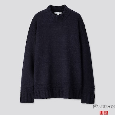 MEN LOW GAUGE CREW NECK LONG-SLEEVE SWEATER (JW ANDERSON), NAVY, medium