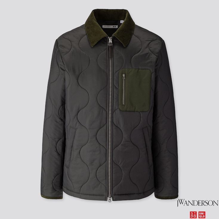 Men Quilted Blouson (Jw Anderson), Dark Green, Large