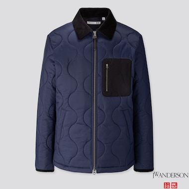 MEN QUILTED BLOUSON (JW ANDERSON), NAVY, medium