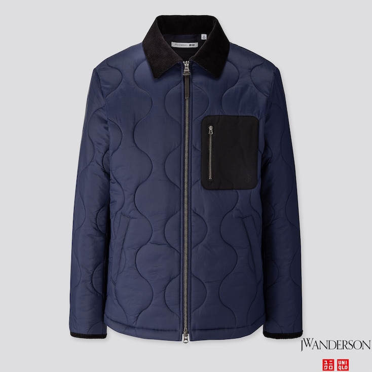 Men Quilted Blouson (jw Anderson), Navy, Large
