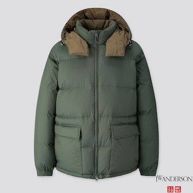 MEN REVERSIBLE DOWN JACKET (JW ANDERSON), DARK GREEN, medium