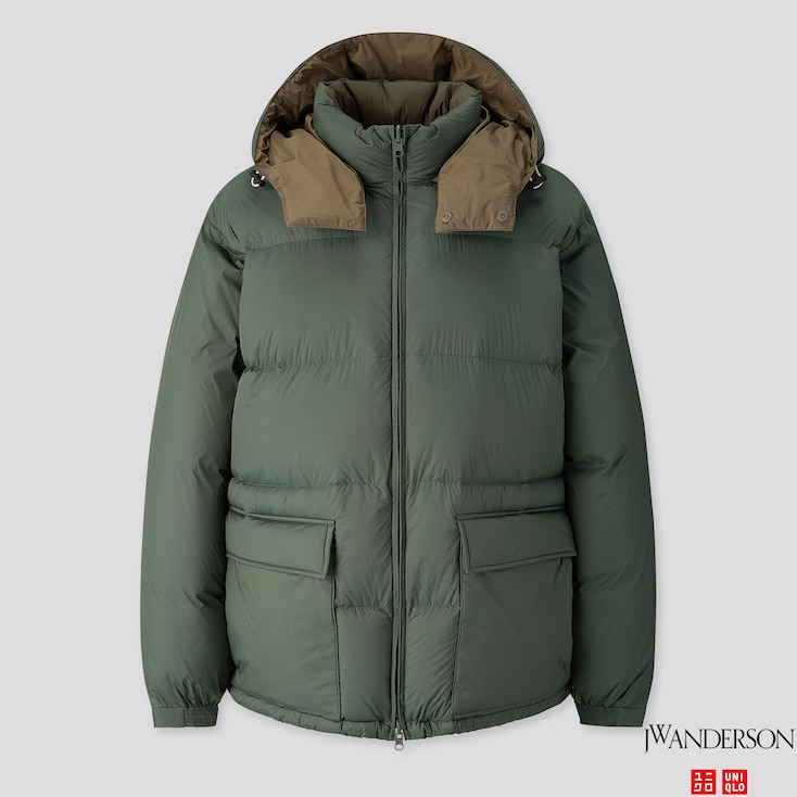 Men Reversible Down Jacket (Jw Anderson), Dark Green, Large