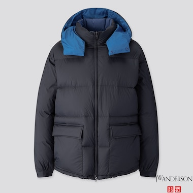 MEN REVERSIBLE DOWN JACKET (JW ANDERSON), NAVY, medium