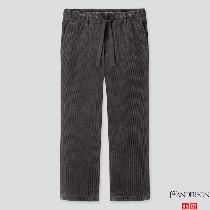 Men Corduroy Relaxed Drawstring Pants (Jw Anderson), Dark Gray, Large