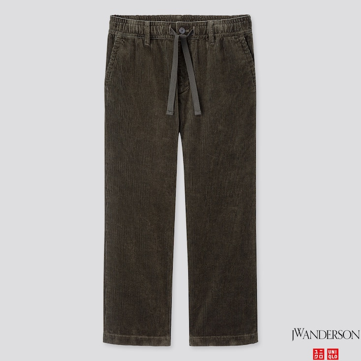 MEN CORDUROY RELAXED DRAWSTRING PANTS (JW Anderson), DARK GREEN, large