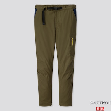 MEN HEATTECH WARM LINED PANTS (JW ANDERSON), OLIVE, medium