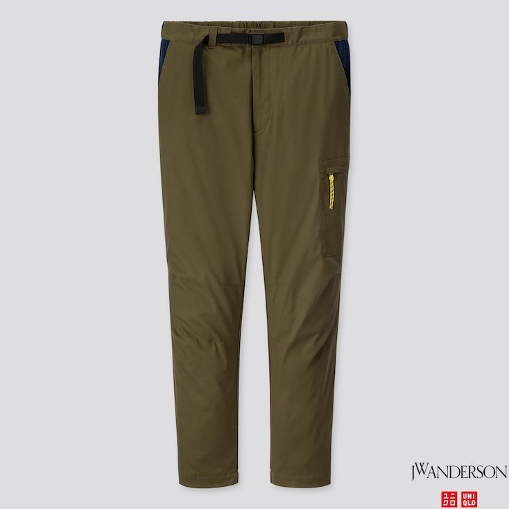 MEN HEATTECH WARM LINED PANTS (JW ANDERSON), OLIVE, large