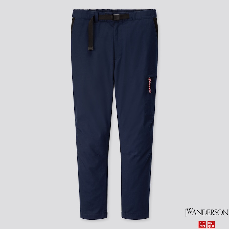 MEN HEATTECH WARM LINED PANTS (JW ANDERSON), NAVY, large