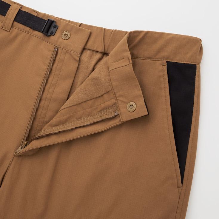 Men Heattech Warm Lined Pants (Jw Anderson), Black, Large