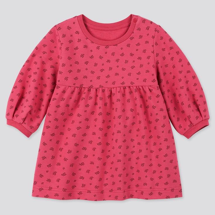 TODDLER LONG-SLEEVE PRINT DRESS, PINK, large