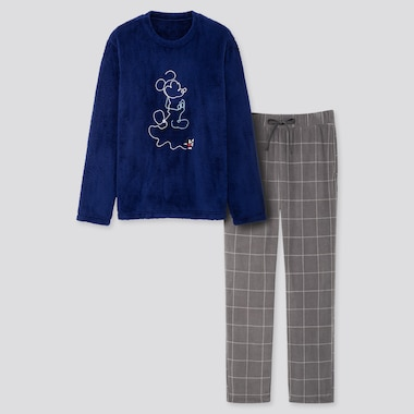 MEN DISNEY FLEECE LONG-SLEEVE SET, BLUE, medium