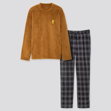 MEN DISNEY FLEECE LONG-SLEEVE SET, YELLOW, medium