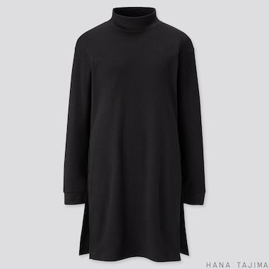 WOMEN SOFT TOUCH LONG-SLEEVE TUNIC (HANA TAJIMA), BLACK, medium