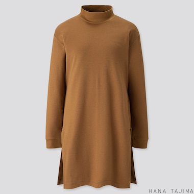 WOMEN SOFT TOUCH LONG-SLEEVE TUNIC (HANA TAJIMA), BROWN, medium