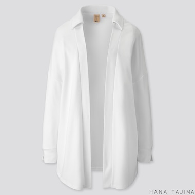WOMEN SOFT TOUCH LONG-SLEEVE CARDIGAN (HANA TAJIMA), WHITE, medium