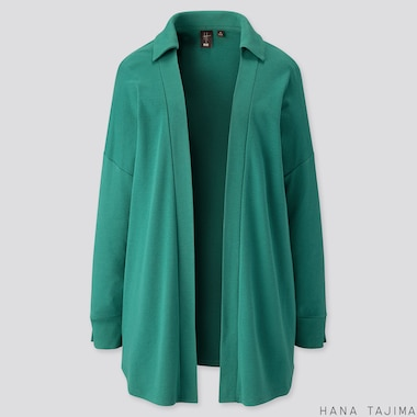 WOMEN SOFT TOUCH LONG-SLEEVE CARDIGAN (HANA TAJIMA), GREEN, medium
