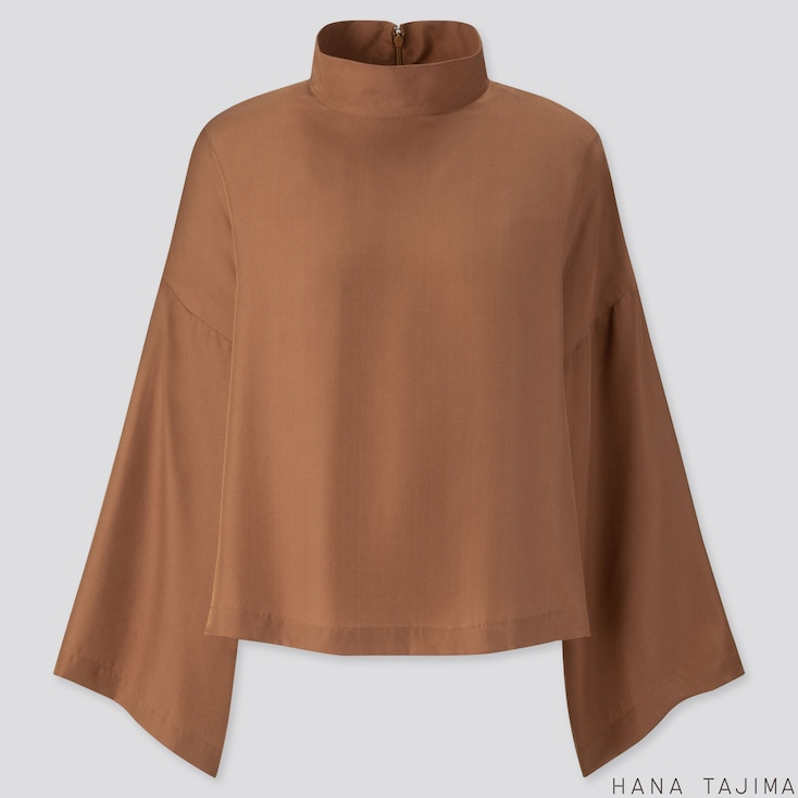 Women Silk Blend Long Sleeve Blouse (Hana Tajima) by Uniqlo