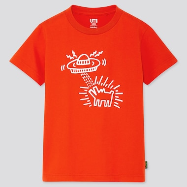 KIDS KEITH HARING UT(SHORT-SLEEVE GRAPHIC T-SHIRT), RED, medium