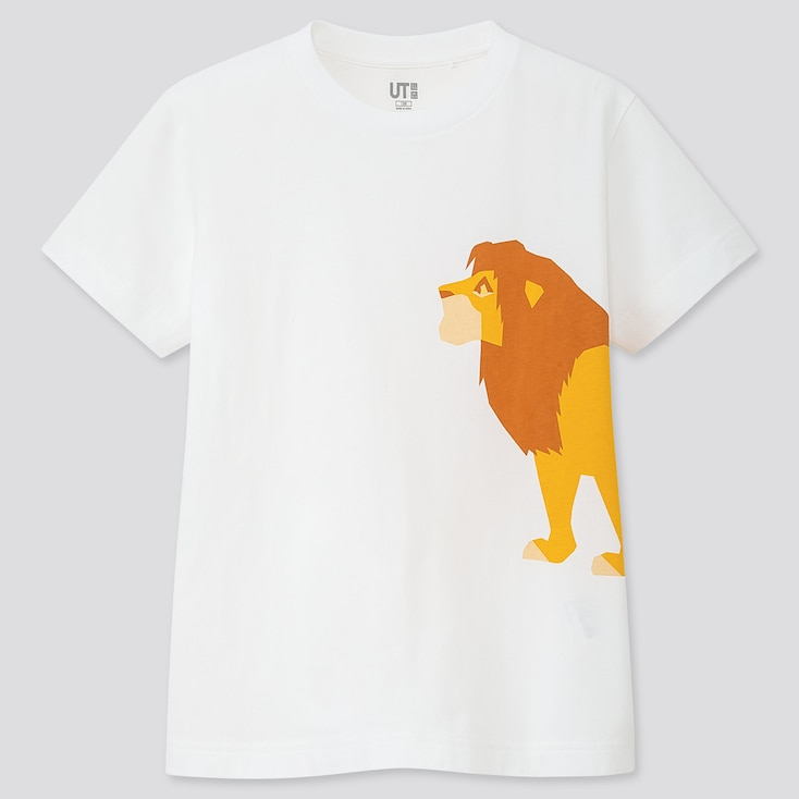 KIDS THE LION KING UT (SHORT-SLEEVE GRAPHIC T-SHIRT), WHITE, large