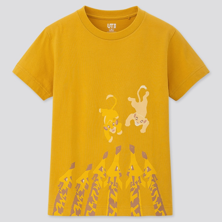 KIDS THE LION KING UT (SHORT-SLEEVE GRAPHIC T-SHIRT), YELLOW, large