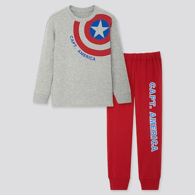 KINDER UT BEDRUCKTES ULTRA STRETCH SWEAT-SET MARVEL