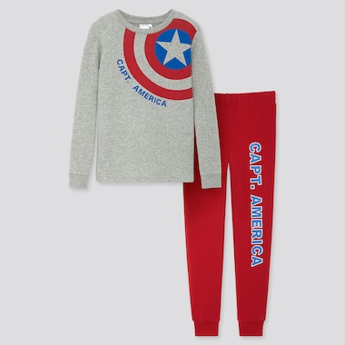 KIDS MARVEL ULTRA STRETCH LONG-SLEEVE SWEAT SET, GRAY, medium
