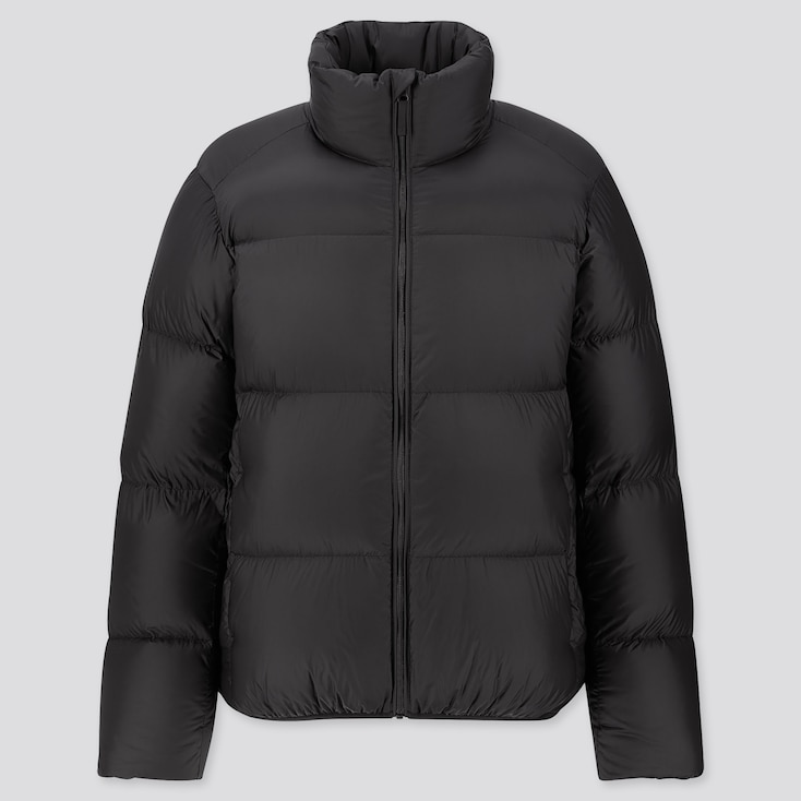 Men Ultra Light Down Puffer Jacket, Black, Large