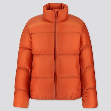 MEN ULTRA LIGHT DOWN PUFFER JACKET, ORANGE, medium