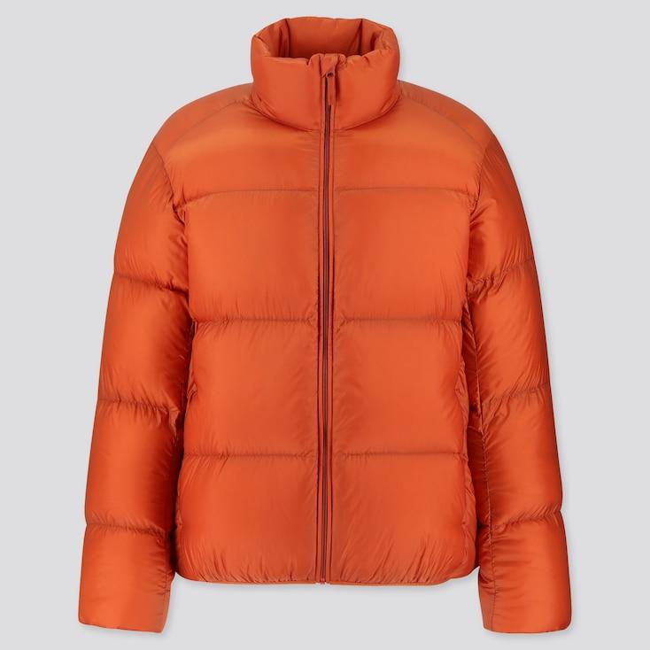 Men Ultra Light Down Puffer Jacket, Orange, Large