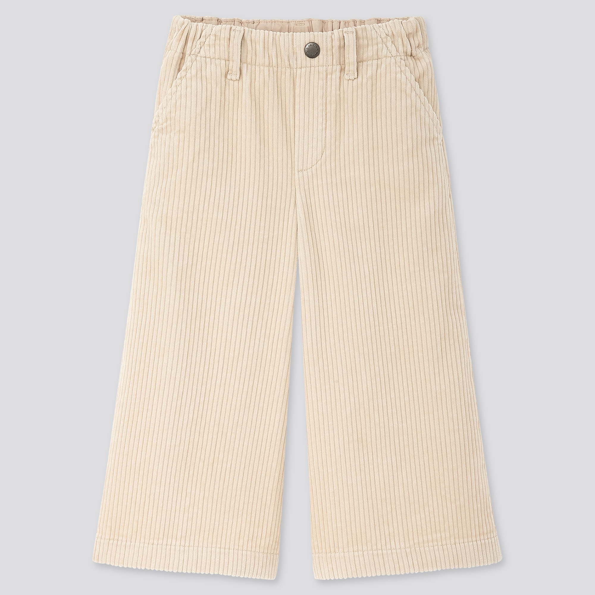 GIRLS CORDUROY WIDE CROPPED PANTS