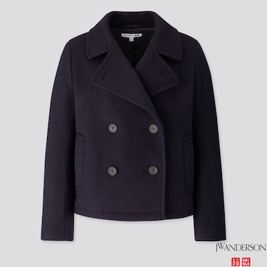 WOMEN SHORT PEACOAT (JW ANDERSON), NAVY, medium