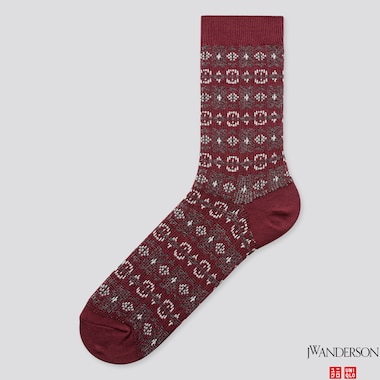 MEN SOCKS (JW ANDERSON), WINE, medium