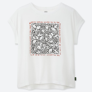 WOMEN KEITH HARING UT (SHORT-SLEEVE GRAPHIC T-SHIRT), WHITE, medium