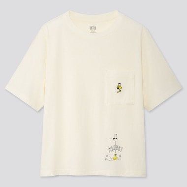 WOMEN PEANUTS UT (SHORT-SLEEVE GRAPHIC T-SHIRT), OFF WHITE, medium