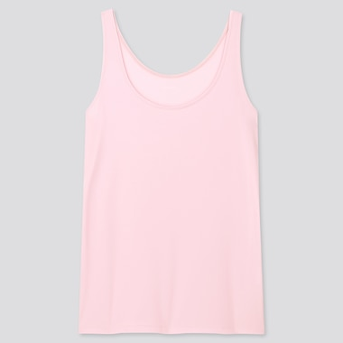 Women Airism Sleeveless Top, Pink, Medium