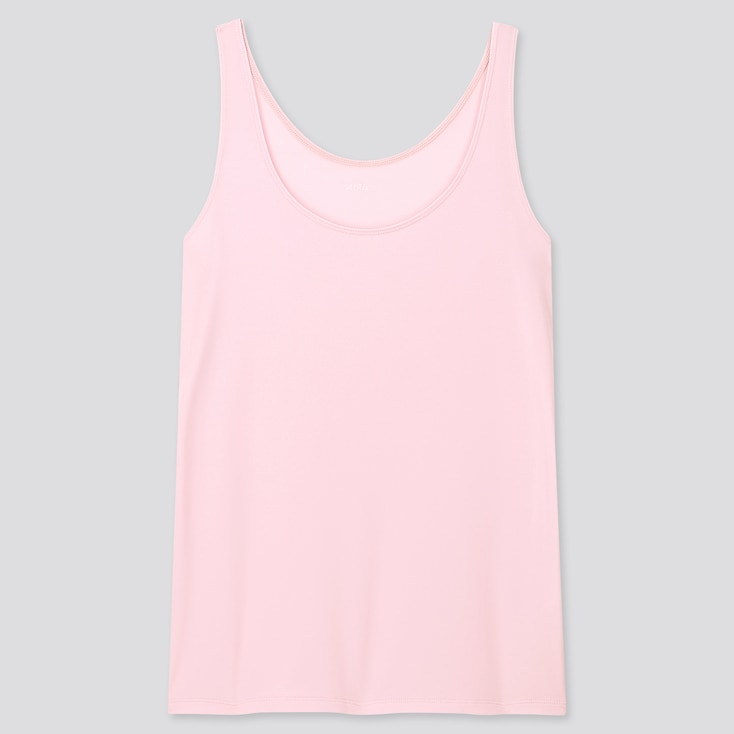 Women Airism Sleeveless Top, Pink, Large