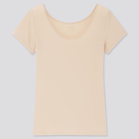 Women AIRism Scoop Neck Short Sleeved T-Shirt