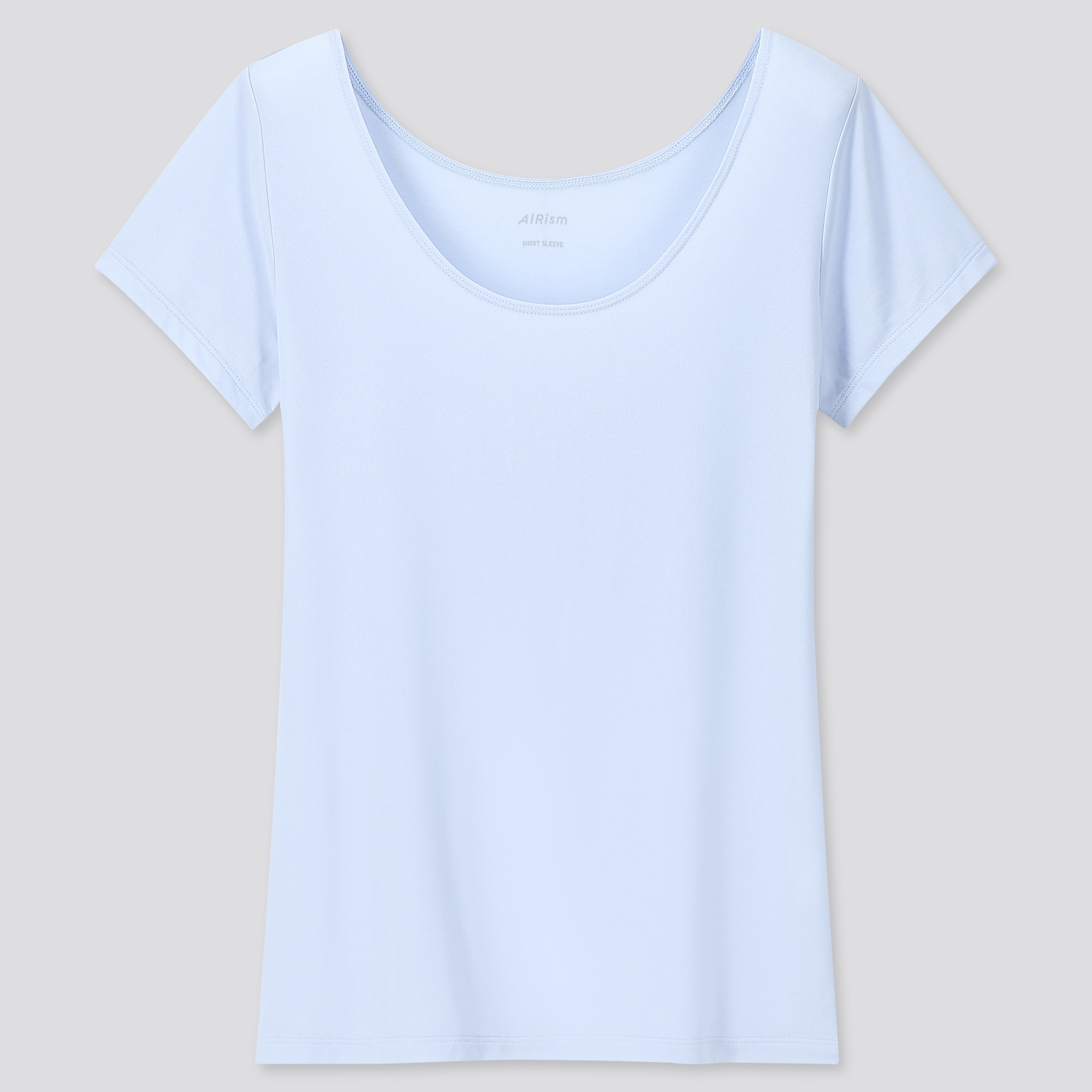 WOMEN AIRism SCOOP NECK SHORT-SLEEVE T-SHIRT