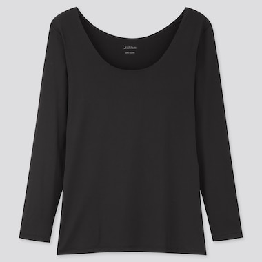 Women AIRism Scoop Neck Long Sleeved T-Shirt