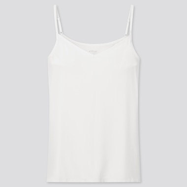 Women Airism Padded Underarm Camisole (Online Exclusive), White, Medium