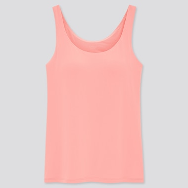 Women Airism Sleeveless Bra Top, Pink, Medium