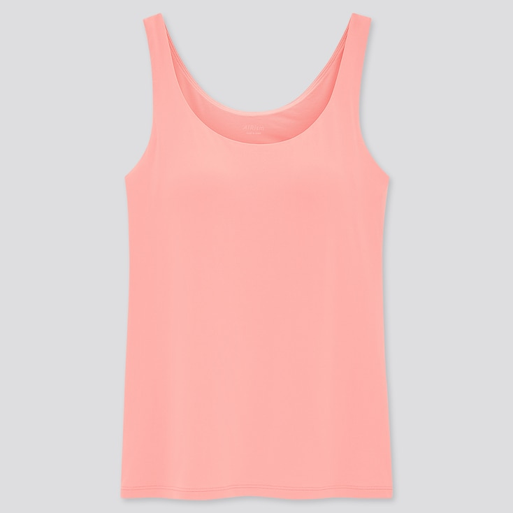 Women Airism Sleeveless Bra Top, Pink, Large