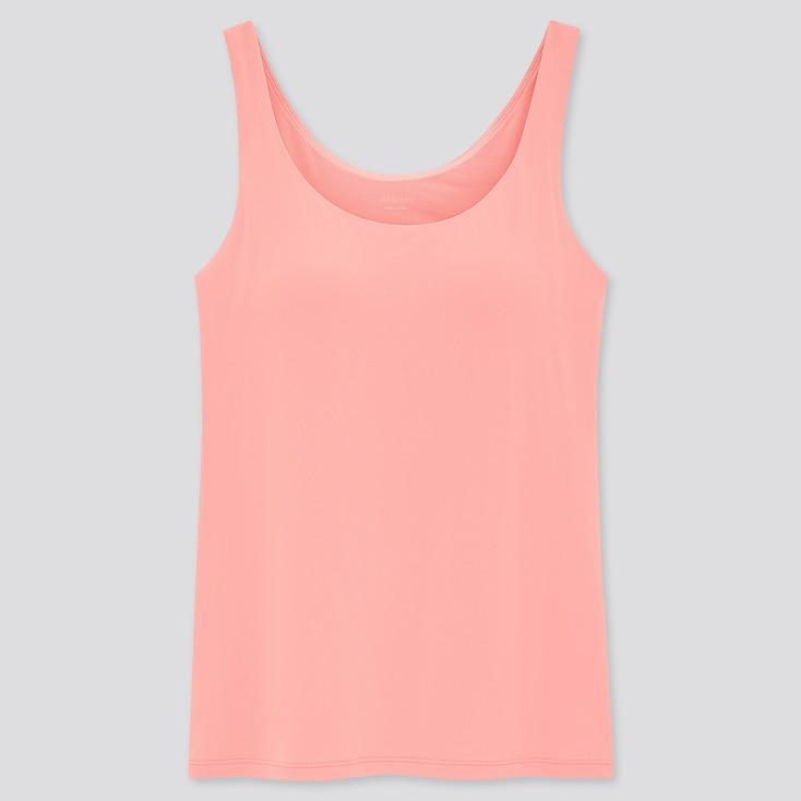 Women Airism Sleeveless Bra Top, Pink, Large