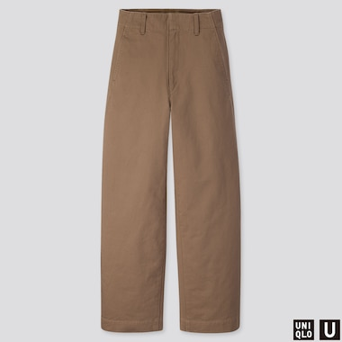 WOMEN UNIQLO U WIDE LEG CURVED TROUSERS