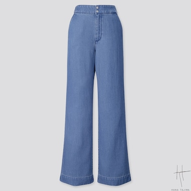WOMEN INDIGO FLARE PANTS (HANA TAJIMA), BLUE, medium