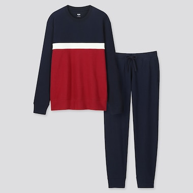 MEN ULTRA STRETCH LONG-SLEEVE SWEAT SET (ONLINE EXCLUSIVE), NAVY, medium
