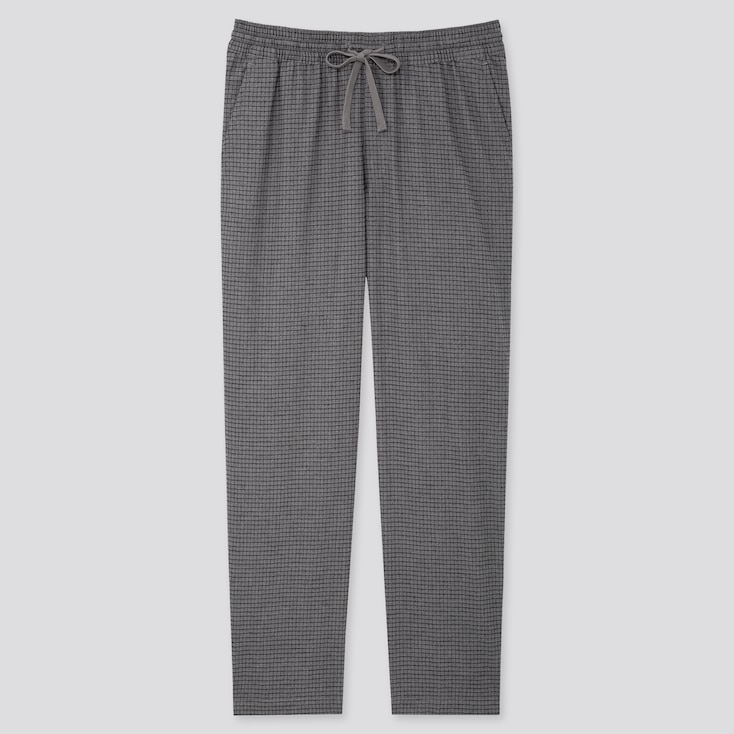 MEN FLANNEL EASY PANTS, DARK GRAY, large