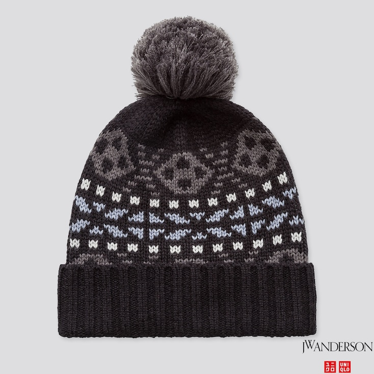 HEATTECH KNITTED CAP (JW ANDERSON), BLACK, large
