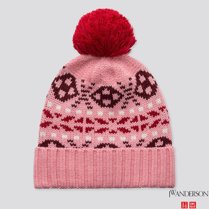 Heattech Knitted Cap (jw Anderson), Pink, Large